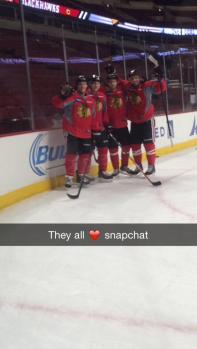 snapchat leah hendrickson chicago blackhawks
