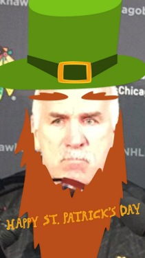 Coach Q wearing his St. Patrick's Day finest. (2015)